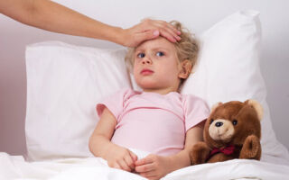 Больное горло у ребенка с повышенной температурой