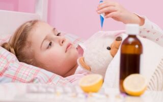 Повышение температуры у ребенка во время отита