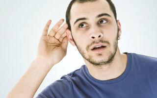 Виды и особенности снижения слуха приводящие к глухоте