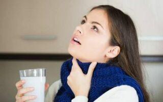 Полоскание больного горла содой и солью