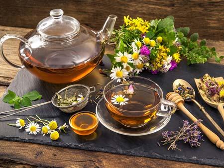 Лекарственные травы в виде чая