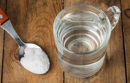 Полоскание содой и солью при ангине